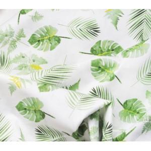 Ткань хлопок «Тропические листья», 33х80 см