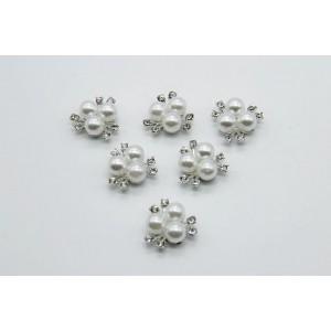 Серединка для цветов Кабошон пластик флоризель 22мм, 1 шт