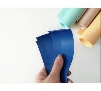 Отрез кожзама для хлястика, цвет синий, 1 шт