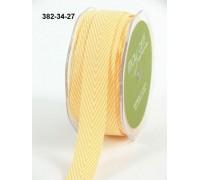 Твиловая лента, шеврон, цвет жёлтый, 1 ярд