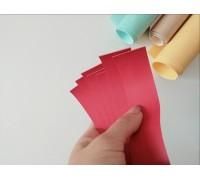 Отрез кожзама для хлястика, цвет красный, 1 шт