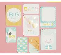Набор карточек для творчества с фольгированием My Family, 10 х 10.5 см