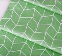 Ткань хлопок «Геометрический узор на зеленом», 33х80 см