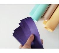 Отрез кожзама для хлястика, цвет фиолетовый, 1 шт