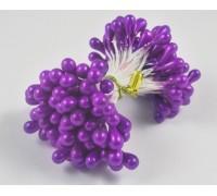 Тычинки жемчужные (фиолетовые), 5мм, 10 ниточек