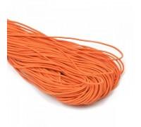 Резинка круглая , цвет оранжевый, 1м