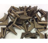 Уголки металлические,цвет бронза, 28 x 20 мм, 1шт