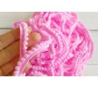 Помпошки мелкие, цвет розовый, 1м