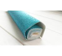 Ткань с глиттером, цвет голубой, 30х35 см