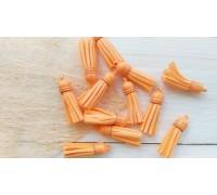 Кисточки замшевые, цвет оранжевый, 1шт