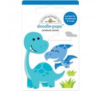 Объёмные бумажные стикеры DINO-MITE -DOODLE-POPS 3D STCKR