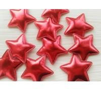 Звезда из кожзама, цвет красный, 1 шт